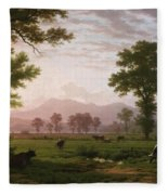 Landscape Near Lucerne With View To Mount Rigi Fleece Blanket