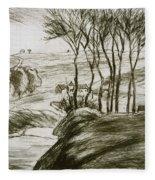 Landscape Near Osny  Fleece Blanket