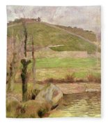 Landscape Near Pont Aven Fleece Blanket