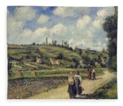 Landscape Near Pontoise Fleece Blanket