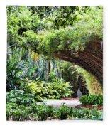 Landscape Rip Van Winkle Gardens Louisiana  Fleece Blanket