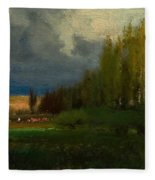 Landscape Study Fleece Blanket