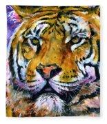 Landscape Tiger Fleece Blanket