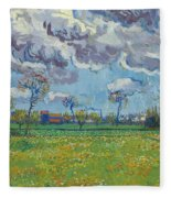 Landscape Under A Turbulent Sky Fleece Blanket