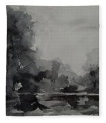 Landscape Value Study Fleece Blanket