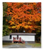 Landscape View Of Mobile Home 1 Fleece Blanket