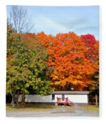 Landscape View Of Mobile Home 2 Fleece Blanket