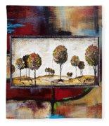 Landscape Vignettes-3 Fleece Blanket