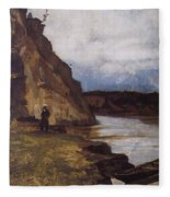 Landscape With A Figure Of His Brother Vasily Ivanovich Surikov Fleece Blanket