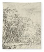Landscape With A Herdsmen Fleece Blanket