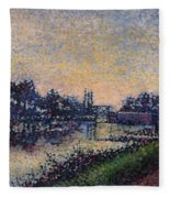 Landscape With A Lock 1885 Fleece Blanket