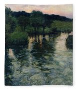 Landscape With A River Fleece Blanket