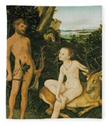 Landscape With Apollo And Diana Fleece Blanket