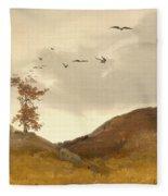 Landscape With Crows  Fleece Blanket