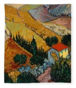 Landscape With House And Ploughman Fleece Blanket