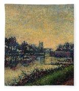 Landscape With Lock 1886 Fleece Blanket