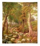 Landscape With Sheep Fleece Blanket