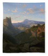 Landscape With The Castle Of Montsegur Fleece Blanket