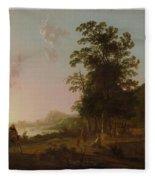 Landscape With The Flight Into Egypt Fleece Blanket