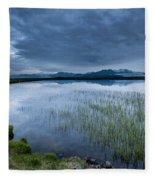 Landscape With Water Grass Fleece Blanket