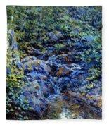 Landscape With Waterfall 1890 Fleece Blanket
