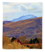 Landscape Wyoming State  Fleece Blanket