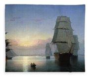 Lane: Boston Harbor Fleece Blanket