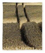 Lanes On Cornfield Fleece Blanket