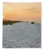 Langdon Beach Sunrise 5 - Pensacola Beach Florida Fleece Blanket