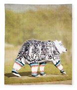 Language Bear Fleece Blanket