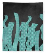 Languettes 02 - Aqua Fleece Blanket