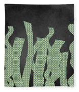 Languettes 02 - Lime Fleece Blanket