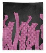 Languettes 02 - Pink Fleece Blanket