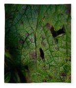 Languid Leaf Fleece Blanket