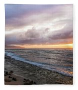 Laniakea Beach Sunset Fleece Blanket