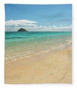 Lanikai Beach 4 - Oahu Hawaii Fleece Blanket