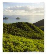 Lanikai Hills Fleece Blanket