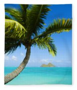 Lanikai Palm Fleece Blanket