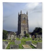 Lansallos Church Cornwall Fleece Blanket