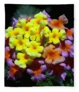 Lantana Flower Chips Fleece Blanket