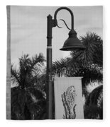 Lantana Lamp Post Fleece Blanket