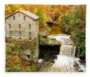 Lantermans Mill In Fall Fleece Blanket