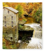 Lantermans Mill In Fall Fleece Blanket