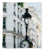 Lantern Clock Fleece Blanket