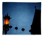 Lanterns- Art By Linda Woods Fleece Blanket