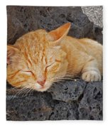 Lanzarote Ginger Fleece Blanket