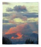 Wyoming Sunsets 1 Fleece Blanket