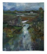Laramie River Valley  Fleece Blanket