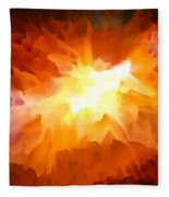 Large Abstract Art Painting Fleece Blanket
