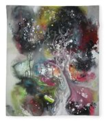 Large Color Fever Abstract25-original Abstract Painting Fleece Blanket